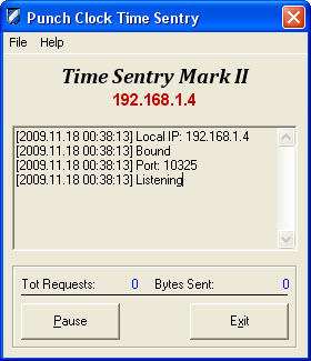 Time Sentry Screen